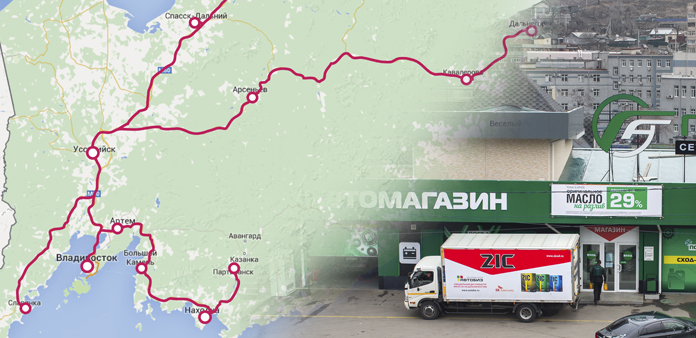 Autobiz shipping routes